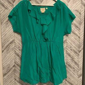 Anthropologie VanessaVirginia 8 blouse ruffle top
